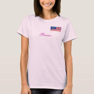 Camiseta malasio británico combinado, princesa del anuncio