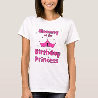 Camiseta ¡Mamá de la 1ra princesa del cumpleaños!