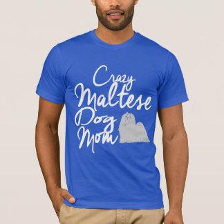 Camiseta Mamá loca del perro maltés