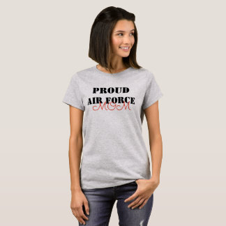 Camiseta Mamá orgullosa de la fuerza aérea