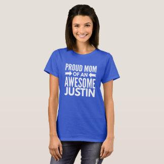 Camiseta Mamá orgullosa de un Justin impresionante