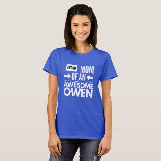 Camiseta Mamá orgullosa de un Owen impresionante