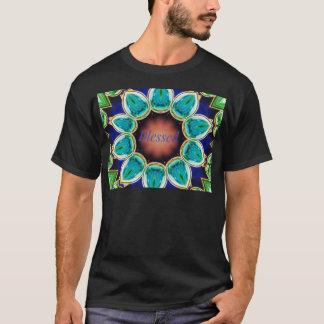 "Camiseta Mandala ""bendecida"" subió turquesa elegante fresca"