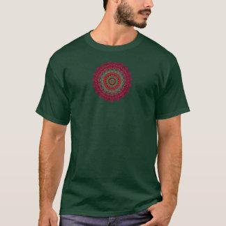 Camiseta Mandala fucsia del caleidoscopio