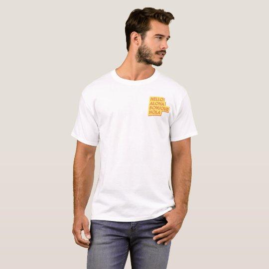 Camiseta manga corta hombre Hello