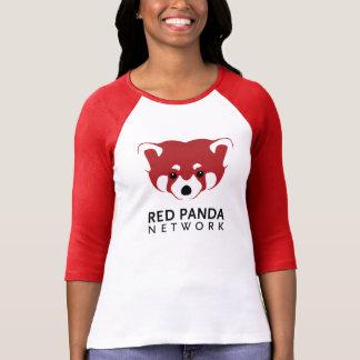 Camiseta Manga del logotipo 3/4 de la panda roja