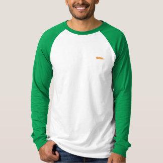 Camiseta Manga larga del béisbol anaranjado para hombre del