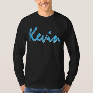 Camiseta Manga larga del logotipo azul de Kevin
