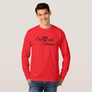 Camiseta Manga larga roja de los chrismas de Crowndit