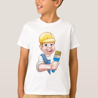 Camiseta Manitas del dibujo animado del pintor y del