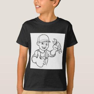 Camiseta Manitas del mecánico o del fontanero con el dibujo