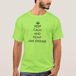 Camiseta Mantenga enfermedad tranquila y de la lucha de