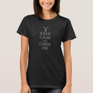 Camiseta mantenga la realización tranquila y de la alegría