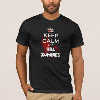 Camiseta Mantenga negro tranquilo y de la matanza de los
