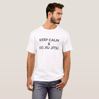 Camiseta Mantenga tranquilo y haga Jiu Jitsu (oscuro)