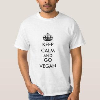 Camiseta Mantenga tranquilo y vaya vegano