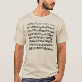 Camiseta Manuscrito de la música de la habitación del