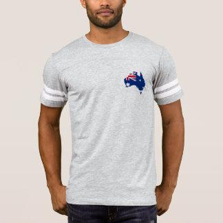 Camiseta mapa de la bandera de Australia