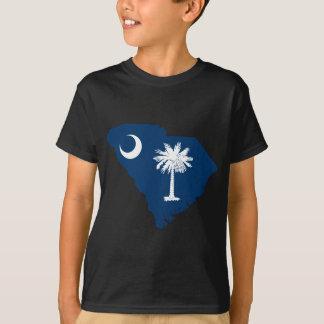 Camiseta Mapa de la bandera de Carolina del Sur