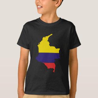 Camiseta Mapa de la bandera de Colombia