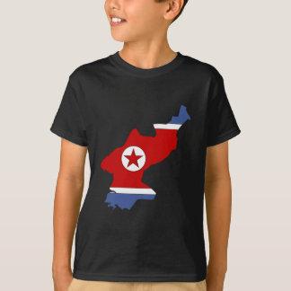 Camiseta Mapa de la bandera de Corea del Norte del mismo