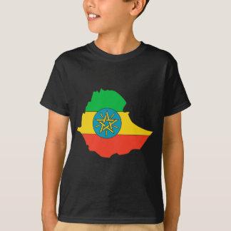 Camiseta Mapa de la bandera de Etiopía