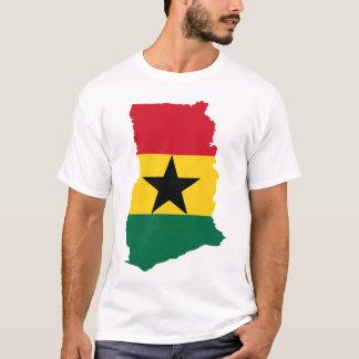 Camiseta Mapa de la bandera de Ghana