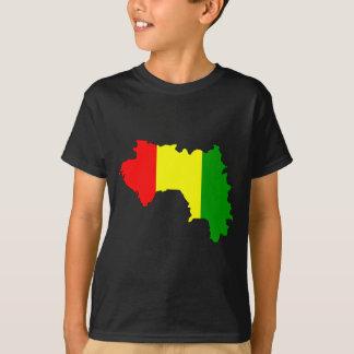 Camiseta Mapa de la bandera de Guinea