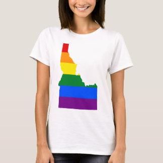 Camiseta Mapa de la bandera de Idaho LGBT