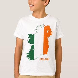 Camiseta Mapa de la bandera de Irlanda