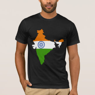 Camiseta Mapa de la bandera de la India del mismo tamaño