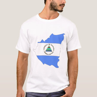 Camiseta Mapa de la bandera de Nicaragua