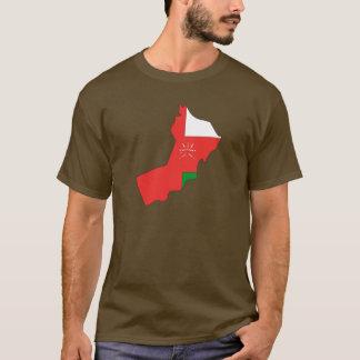 Camiseta Mapa de la bandera de Omán