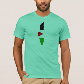 Camiseta Mapa de la bandera de Palestina