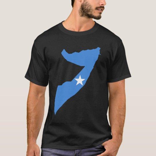 Camiseta Mapa de la bandera de Somalia