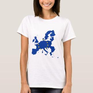 Camiseta Mapa de la bandera de unión europea
