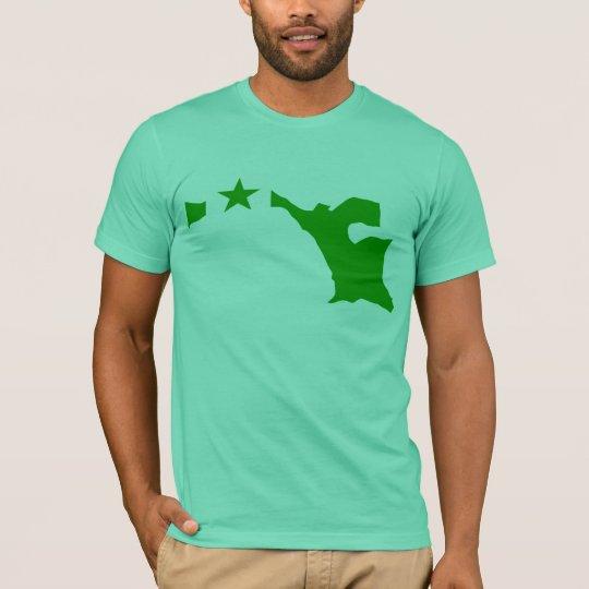 Camiseta Mapa de la bandera del esperanto