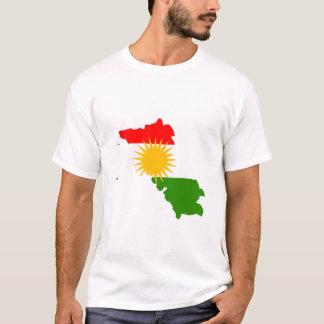 Camiseta Mapa de la bandera del Kurdistan