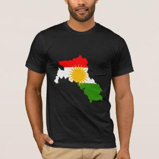 Camiseta Mapa de la bandera del Kurdistan del mismo tamaño