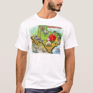 Camiseta Mapa del dibujo animado de Georgetown Tejas