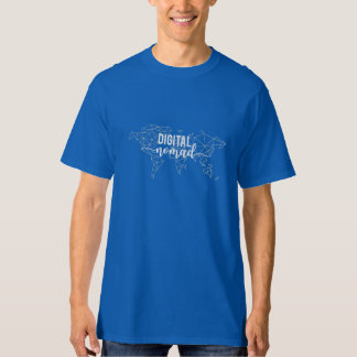 Camiseta Mapa del mundo geométrico del nómada de Digitaces