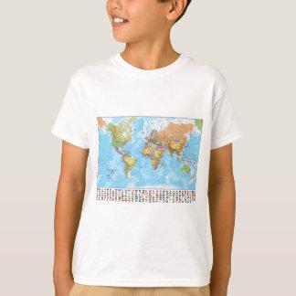 Camiseta Mapa del mundo político con las banderas