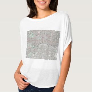 Camiseta Mapa del vintage de la ciudad de Londres