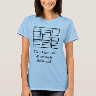 Camiseta mapa direccional desafiado, me no pierden. Jus…