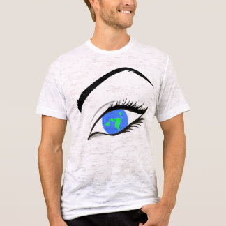 Camiseta Mapa plano del ojo de la tierra - proyección
