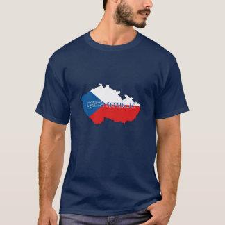 Camiseta Mapa y bandera de la República Checa