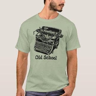 Camiseta Máquina de escribir de la escuela vieja