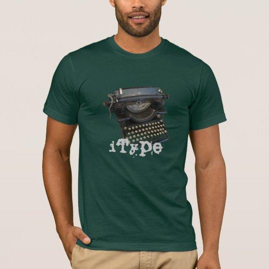 Camiseta máquina de escribir del iType (tipo de I)
