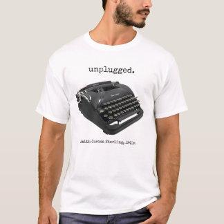 Camiseta Máquina de escribir esterlina de la corona de