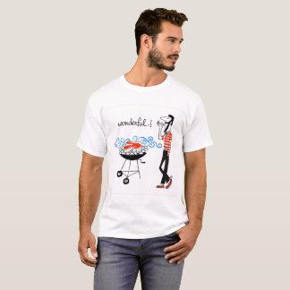 Camiseta ¡maravilloso! hombre fresco de la barbacoa